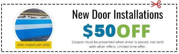 New door installation coupon